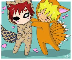 Gaara and Naruto cosplaying by Kuriuss