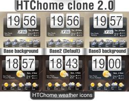 Conky htc-home clone v2.0 by wgacton