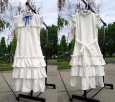 White Menma Dress by LiJianliang