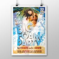 Big Foam Party Flyer/Poster / FREE DOWNLOAD by ddblu