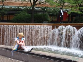 Sailor Moon and Tuxedo Mask Single Photoshoot by lilly-peacecraft