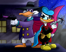 Darkwing Duck and Duck Avenger by X-BlackPearl-X