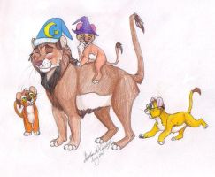 rumbleroar and cubs by LycheePuddn