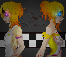 Chica and Toy Chica - Five Night's at Freedy by AyakoItsuka
