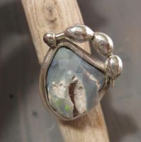 Rough precious Opal ring by Jealousydesign