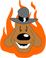 Flaming Sam Head by TheSunnyGuy