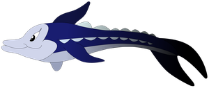 My second vector of a Sturgeon, updated version. by Flutterflyraptor