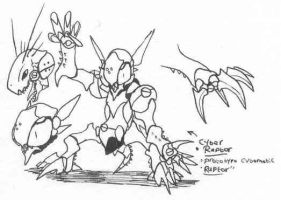 YYY monster-sketch09 by Kainsword-Kaijin