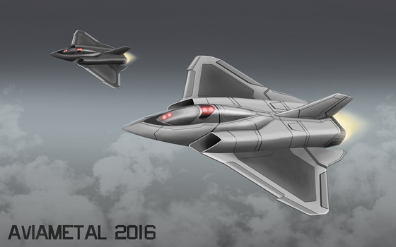 Light Drone Fighter by Aviametal