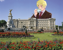 In Which A Giant England Has Tea With The Queen by doitsus-on-a-plane