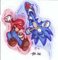 Mario vs. Sonic - Round 2 by taz52