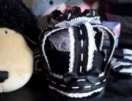 gothic lolita ribbon crown by missyellowlove