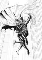Batman and Catwoman lines by J-Rayner