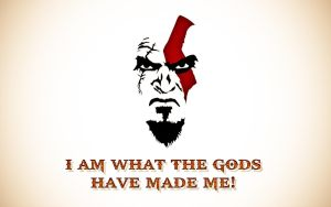 Kratos Face Wallpaper Widescreen by psy5510
