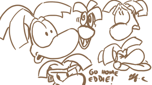 Rayman expressions- funny faces by spongefox