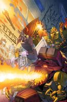 Transformers RID #13 cover colors by khaamar