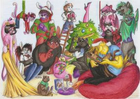 Fabulous Christmas Group Reunion - Collab by NigthmareWolf