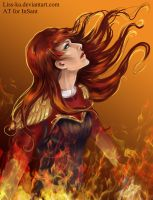Burning Freyja by Liss-ka