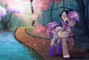 Commission: Spring forest by Kaylemi