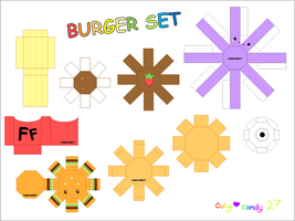 Burger Meal Papercraft by CutyCandy27