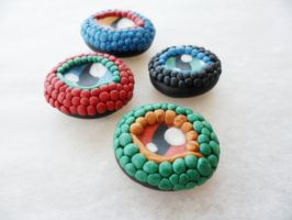 Dragon Eye Pendants by Saru-Hime
