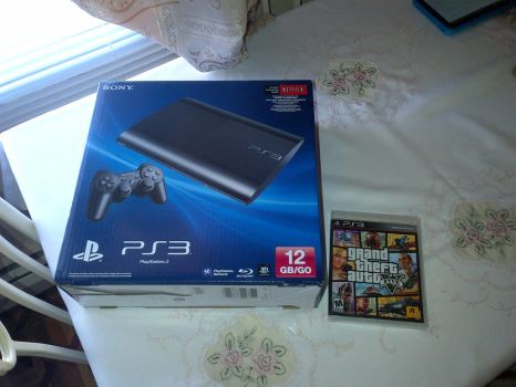 My PS3 and GTA 5 by Galvan19