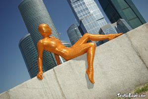 Moscow City Zentai Orange V by ZentaiLand