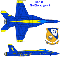 FA-18EF Blue angles by bagera3005