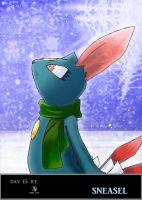 Day 15 Sneasel by Jacklave
