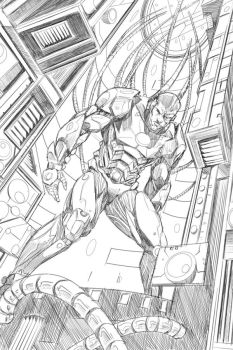 Teen Titans: page 1 pencils by Shono