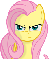 Fluttershy Serious Face by Godoffury