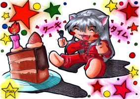 Inuyasha's Cake Time to Gio by CrazyMilk