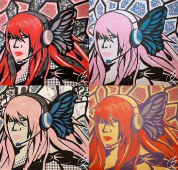 Vocaloid Magnet - Lino Print by mixiao
