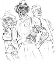 Zombie Cholos by johndevilman