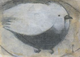 Bird in Egg ACEO by SethFitts