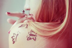 butterfly girl by Peredelkina