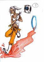 Marik plays portal 2 by Fiftyshadesofkay