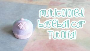 EXO Multicolored Baseball Cap Charm [vid tutorial] by panda314159