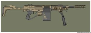 Wasteland Arms 20mm Squad Machine Gun by Direrain