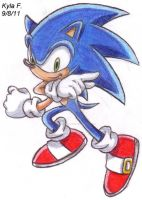 Sonic the Hedgehog by SailorMoonAndSonicX