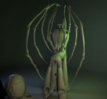 Queen of Blades WIP (stage 3d) part 4c by Temporal333