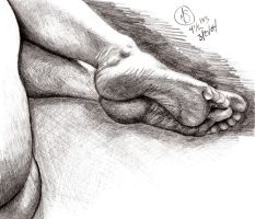 Life Drawing -feet by thedarknight