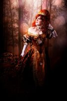 Madam Mercy's Grandfather Clock Ballgown (Front) by SubconsciousDreaming