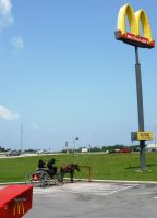 The Amish at McDonald's by claytonwoolery