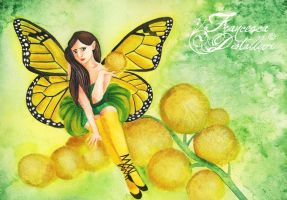 Yellow flower's fairy by Gwennol