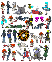 Thirdborn: The Journey Across [Sprites Set 1] by dalubnie