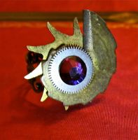 Fire Shell Ring by thevampirepandora