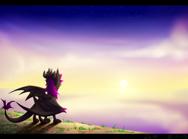 Sea-side Sunset by Dragon-Of-Wonder
