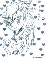 For Grimmjowlove: Chibi Pantera Grimmjow by PeachBerryDivision