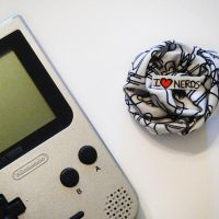 Nerd Love Brooch by hellohappycrafts
